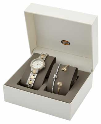 Fossil Womens Virginia Two Tone Watch And Bracelet ES3871SET