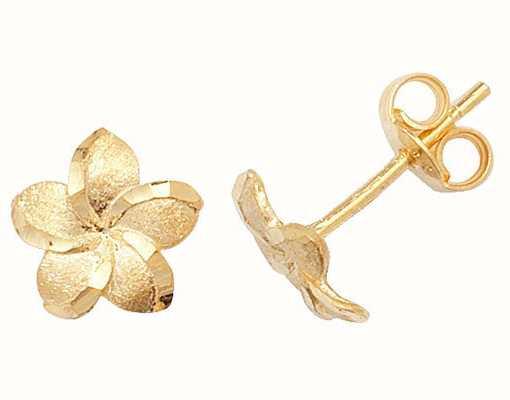 Treasure House 9k Yellow Gold Flower Stud Earrings ES325