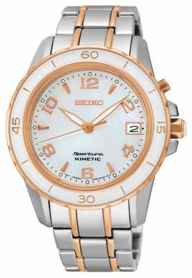 Seiko Womens Sportura Kinetic Two Tone SKA878P1