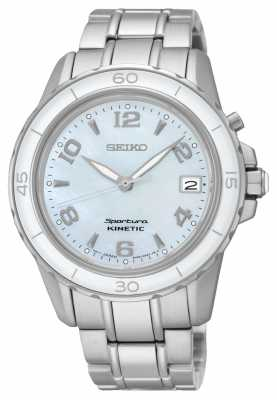 Seiko Womens Sportura Kinetic Stainless Steel SKA879P1