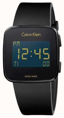 Calvin Klein Unisex Future Digital Black Rubber Strap K5C214D1