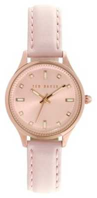 Ted Baker Womens Pink Leather Rose Gold Dial TE10025265