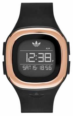 adidas Originals Mens Denver Digital Black Silicone Strap ADH3085