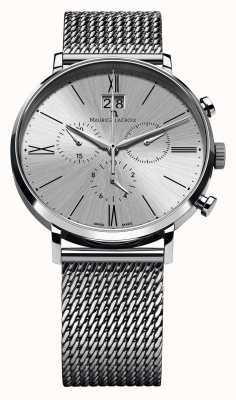 Maurice Lacroix Eliros Date Chronograph Mesh Bracelet Silver EL1098-SS002-110-1