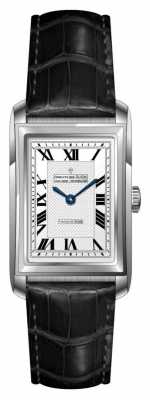 Dreyfuss Womens Black Leather Strap Silver Dial DLS00140/06