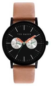 Ted Baker Mens Brown Leather Strap Black Dial TE10024530