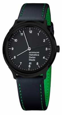 Mondaine Mens Helvetica NY Edition Black Leather Strap MH1.R2221.LB