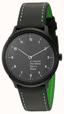 Mondaine Mens Helvetica NY Edition Black Leather Strap MH1.R2221.LB