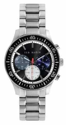 Ted Baker Mens Stainless Steel Bracelet Black Dial TE3059