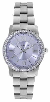 Ted Baker Womens Stainless Steel Bracelet Lilac Dial TE4098