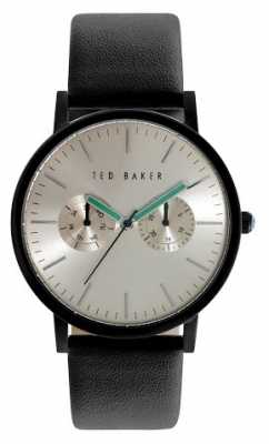 Ted Baker Mens Black Leather Strap Gold Tone Dial TE10024529