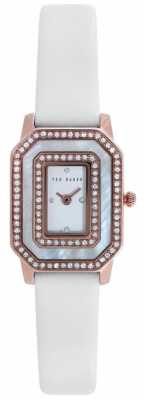 Ted Baker Womens White Leather Strap Stone Set Dial TE10023481