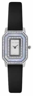 Ted Baker Womens Black Leather Strap Stone Set Dial TE10023479