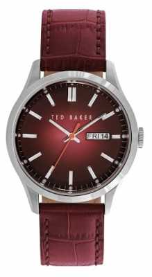 Ted Baker Womens Burgundy Leather Strap Burgundy Dial TE10023463