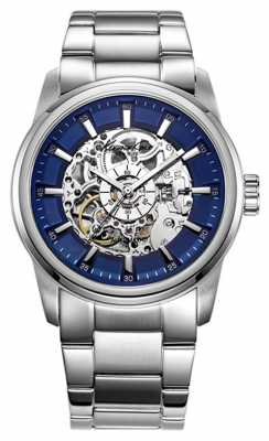 Kenneth Cole Mens Automatic Stainless Steel Blue Dial KC10019489