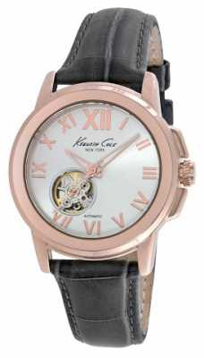 Kenneth Cole Womens Automatic Black Leather Strap KC10020860