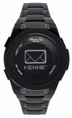 Kenneth Cole Mens Connect Digital Smart Black IP KC10023870