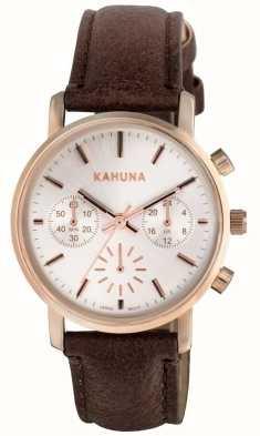 Kahuna Womens Brown Strap Chronograph KLS-0316L
