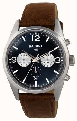 Kahuna Mens Brown Strap Blue Dial Chrono KCS-0011G