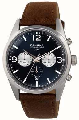 Kahuna Mens Brown Strap Blue Dial Chrono KCS-0011G