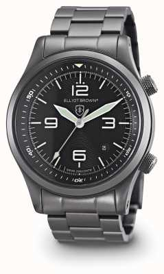 Elliot Brown Mens Canford Gun Metal PVD Plated Black Dial 202-004-B05