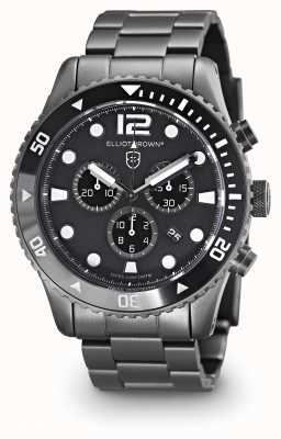 Elliot Brown Mens Bloxworth Gun Metal Plated Black Dial 929-001-B05