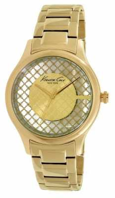 Kenneth Cole Womens Gold PVD Plated Clear Dial KC10026010