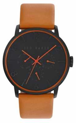 Ted Baker Mens  Brown Leather Strap Black Dial TE10023490