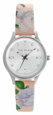 Ted Baker Womens Floral Leather Silver Dial TE10025271