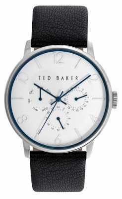 Ted Baker Mens Black Leatehr Strap White Dial TE10023491