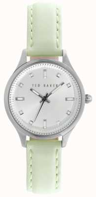 Ted Baker Womens Lime Green Leather Strap Silver Dial TE10025268