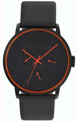 Ted Baker Mens Black Leather Strap Black Dial TE10029566