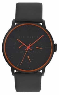 Ted Baker Mens Black Leather Strap Black Dial TE10029566