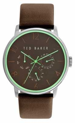 Ted Baker Mens Brown Leather Strap Brown Dial TE10023496