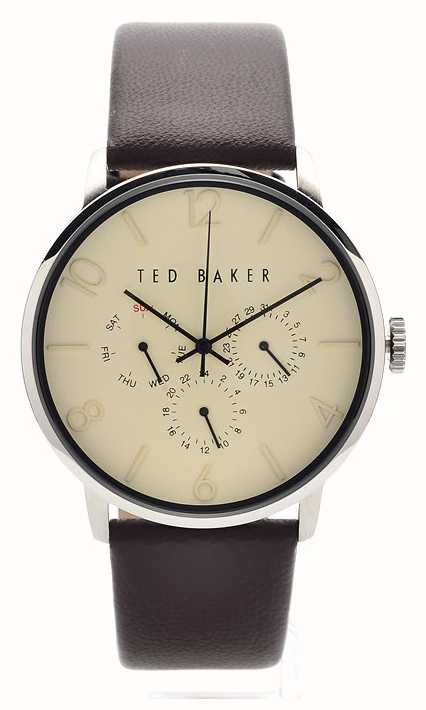 04b77df5a Ted Baker Mens Brown Leather Strap Cream Dial TE10023493 - First ...