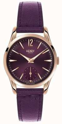 Henry London Womens Hampstead Purple Leather Purple Dial HL30-US-0076
