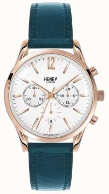Henry London Unisex Stratford Green Leather Strap HL39-CS-0144