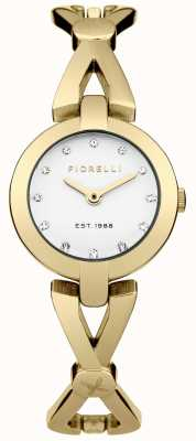 Fiorelli Womens Gold PVD Plated Silver Dial FO003GM