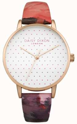 Daisy Dixon Womens Suki Rose Gloss Leather Strap Watch DD008PRG