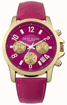 Daisy Dixon Womens Adriana Pink Leather Strap Pink Dial DD002PG
