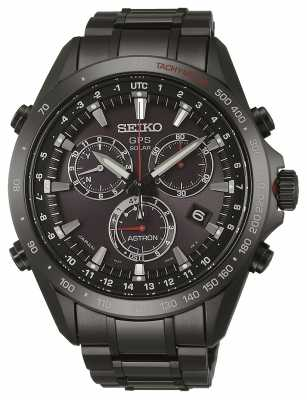 Seiko Astron GPS Mens Black Ion Plated SSE031J1