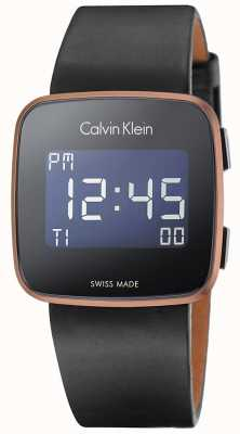 Calvin Klein Unisex Future Digital Black Leather Strap K5C11YC1