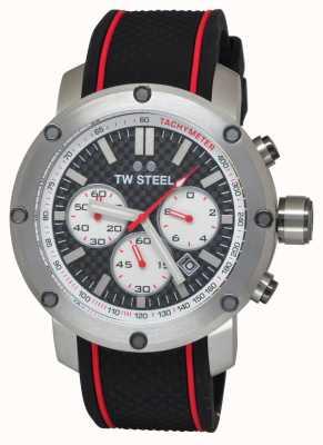 TW Steel Mens Grandeur Tech Black Rubber Strap TS2