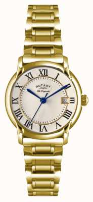 Rotary Womens Les Originales Carviano Gold PVD Plate LB90143/03