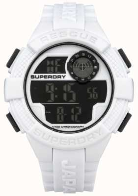 Superdry Mens Radar Digital White Rubber Strap SYG193W