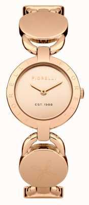 Fiorelli Womens Rose Gold Bracelet Rose Gold Dial FO001RGM