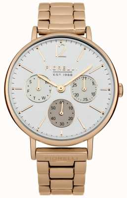 Fiorelli Womens Rose Gold Bracelet White Dial FO002RGM