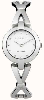 Fiorelli Womens Silver Bracelet White Dial FO003SM