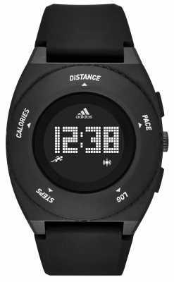 adidas Performance Mens Sprung Black Silicone Strap Digital ADP3198