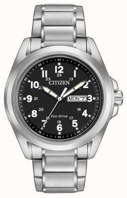 Citizen Eco-Drive Black Dial Sport Bracelet AW0050-82E